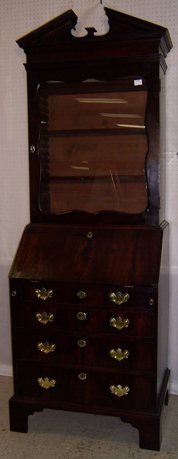 404: 18th century glass door top fall front secretary