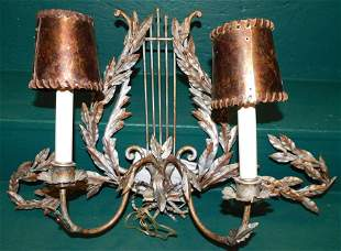Painted Metal Wall Sconce