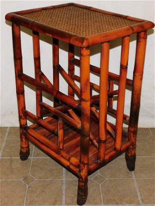 Bamboo Magazine Stand End Table