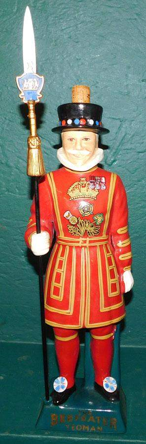 """Staffordshire HP Porcelain Decanter """"Beefeater"""""""