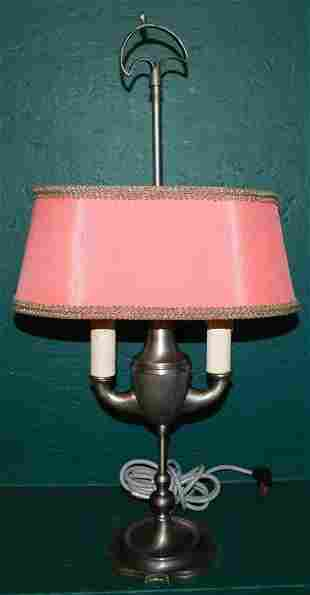 Pewter Student Lamp