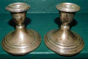 Pair Gorham Sterling Weighted Candlesticks