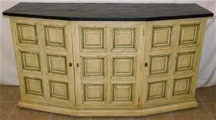 Painted Credenza W/ Slate Top