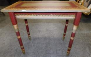 Antique Paint Decorated Table (Artist Signed)