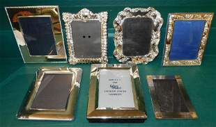 Six Silver Plated Picture Frames