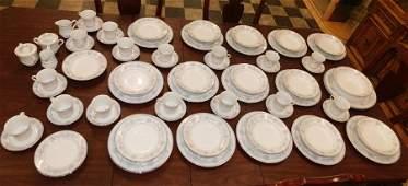 """85 Pc Mikasa Porcelain Dinnerware """"Dresden Rose"""""""