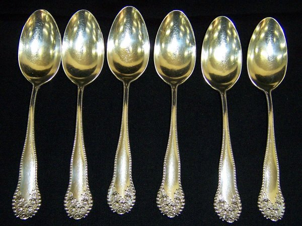 5: (6) Sterling spoons (3.965 troy ounces)