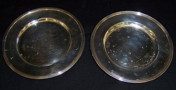 6: Two sterling bread and butter plates