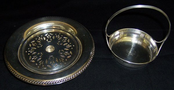 7: Sterling butter dish and sm sterling tray