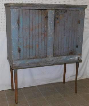 Antique Primitive Painted Pantry Cabinet