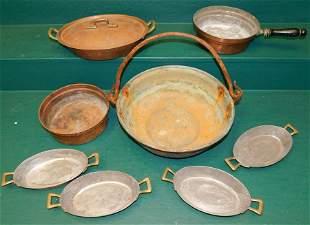 7 Pc Copper Ware