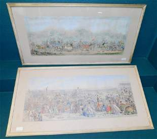 Two Framed Watercolors The Derby Scenes