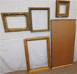 5 Antique Gilt Frames