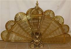 Brass Fan Fire Screen