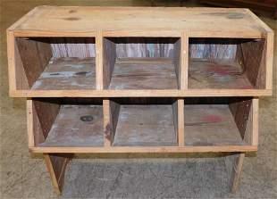 Heart Pine Cubicle Shelf