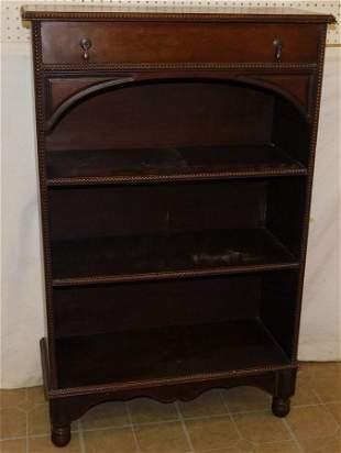 Mahogany Book Shelf W/ Drawer