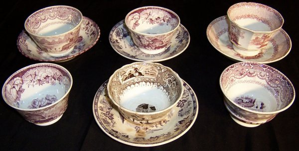 5: (10) Piece soft paste transfer cups and bowls
