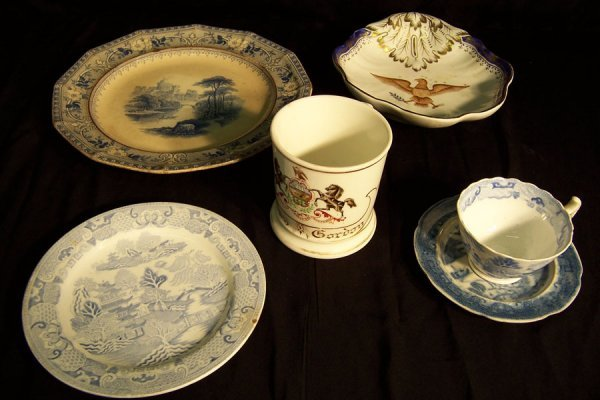 14: (6) Pieces miscellaneous china