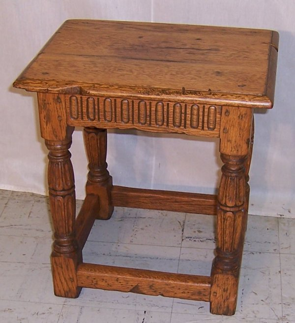 16: 18th century English oak joint stool