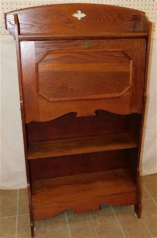 Antique Oak Secretary Book Case