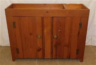 Pine Two Door Dry Sink