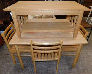Mahogany Table, 4 Chairs, & Coffee Table