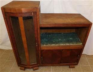 Antique Oak Bookcase Cabinet