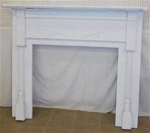 19th C Painted & Carved Mantel