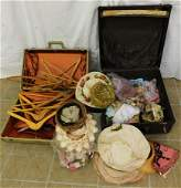 2 Vintage Suitcases with Contents