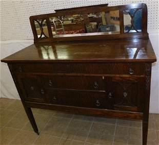 Antique Quartersawn Oak Sideboard