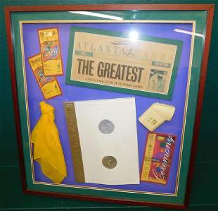 Framed Souvenir 1996 Olympic Games & Framed Print