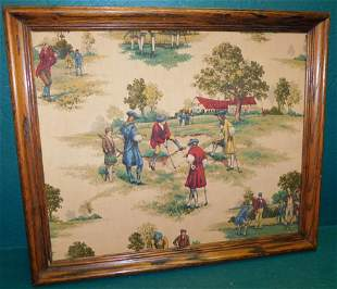 Framed Fabric of Golf Players