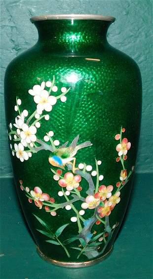 Cloisonne Vase with Bird Decoration