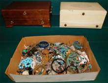 Two Jewelry Boxes & Costume Jewelry