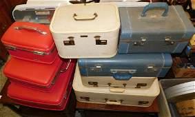 Lot Vintage Suitcases