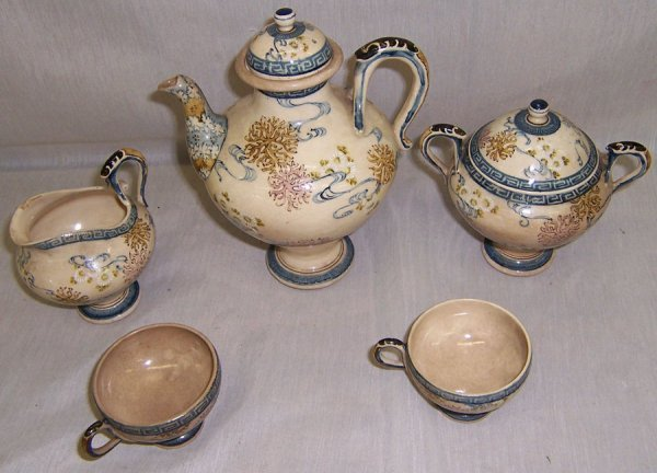 19: (5) Piece hand decorated Japanese tea set
