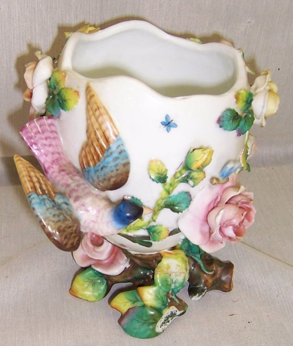 22: Unsigned Dresden or Meissen footed vase