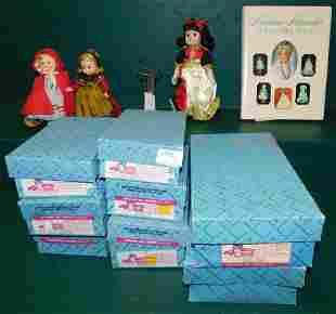 Lot 10 Madame Alexander Dolls -- Doll Stands --