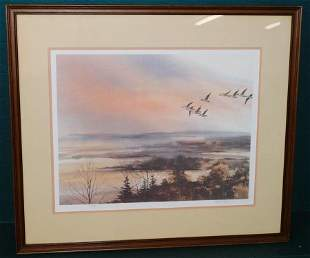 Framed Signed & Numbered Print of Canadian Geese