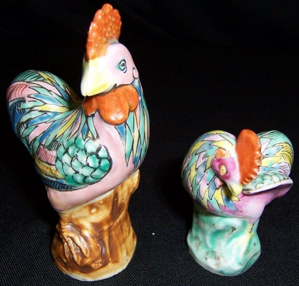 1: Two turn of century Chinese roosters