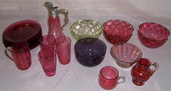 6: (21) Pieces colored glass (some with chips)