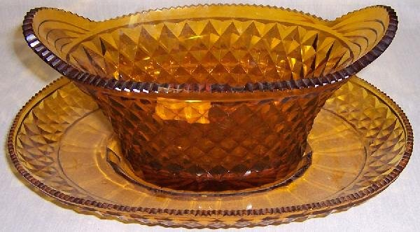 14: Amber basket and under plate