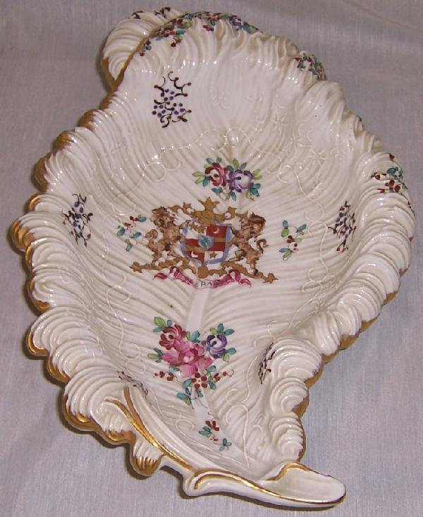16: Armorial leaf dish - marked with cross arrows