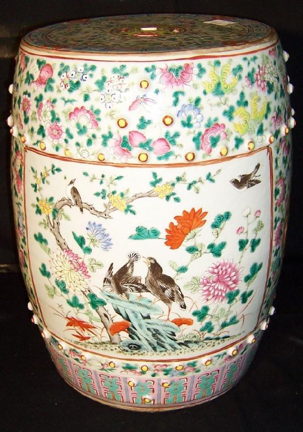 116: 19th century Oriental garden seat.