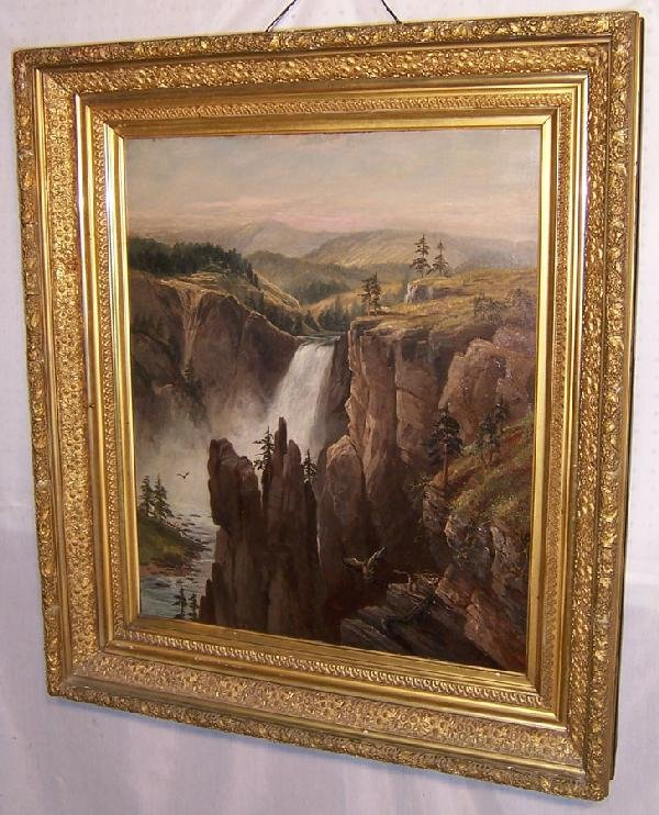 317: Oil  painting, signed H. Huntington, 1891