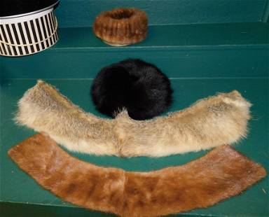 Vintage Fur Hats & Shawls in Boxes
