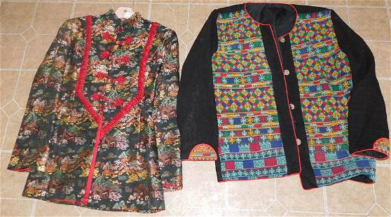 2 Ladies Jackets, (1 Oriental Silk Embroidered)