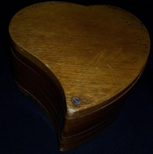6: Heart shaped laminated box.