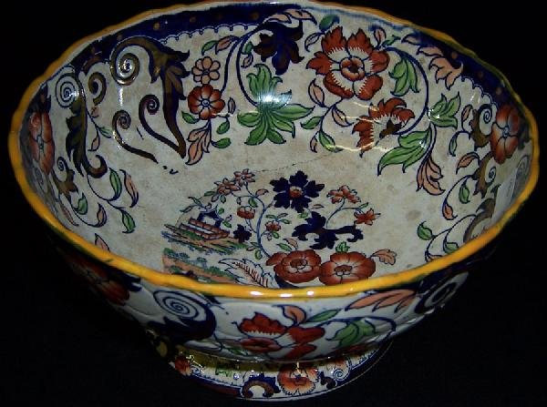 7: Early English Amherst ironstone bowl