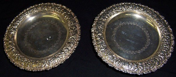 8: 2 silver plated compotes